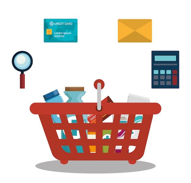 Digital marketing and ecommerce Premium Vector