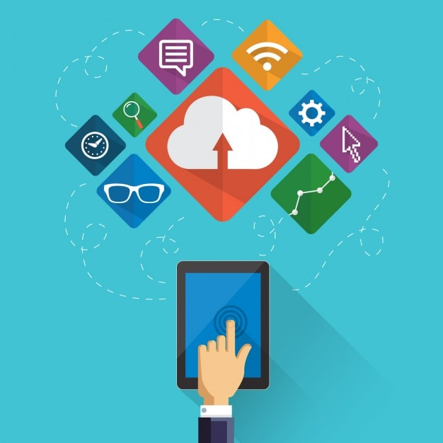 Digital marketing elements Vector | Free Download