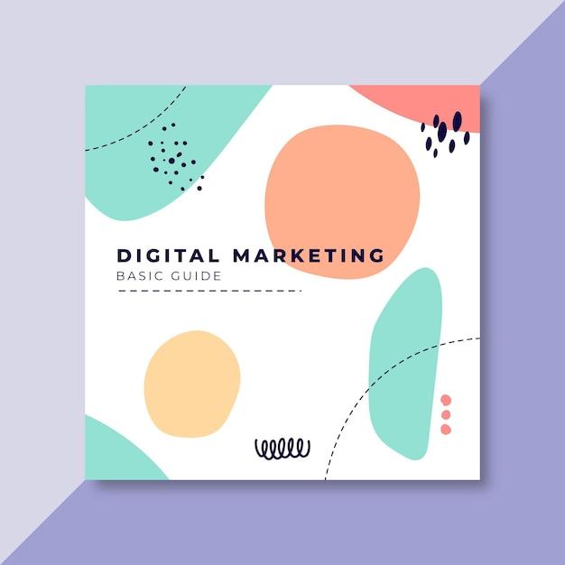 Modello di post di facebook di marketing digitale Vettore gratuito