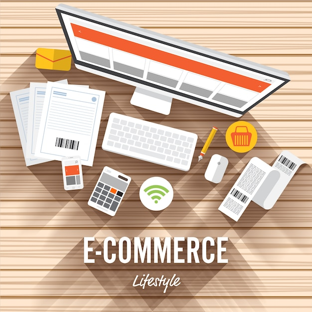 Digital marketing illustrations Premium Vector