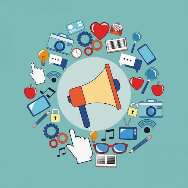 Digital Marketing Megaphone Social Media