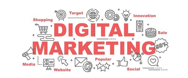 premium vector digital marketing vector banner https www freepik com profile preagreement getstarted 2330072