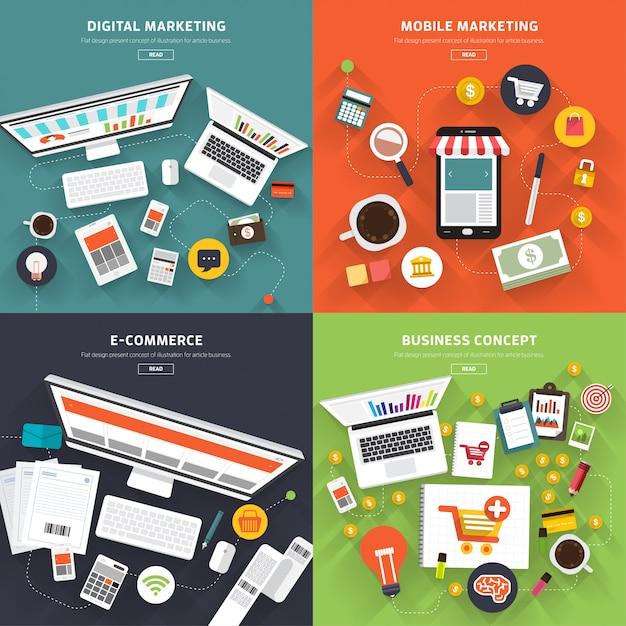 Digital marketing Premium Vector