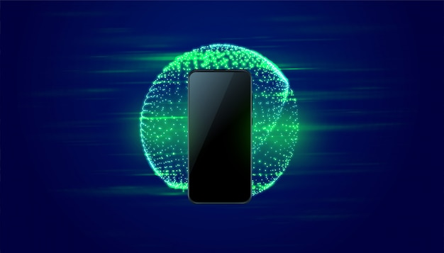 Digital mobile technology fast speed background Free Vector