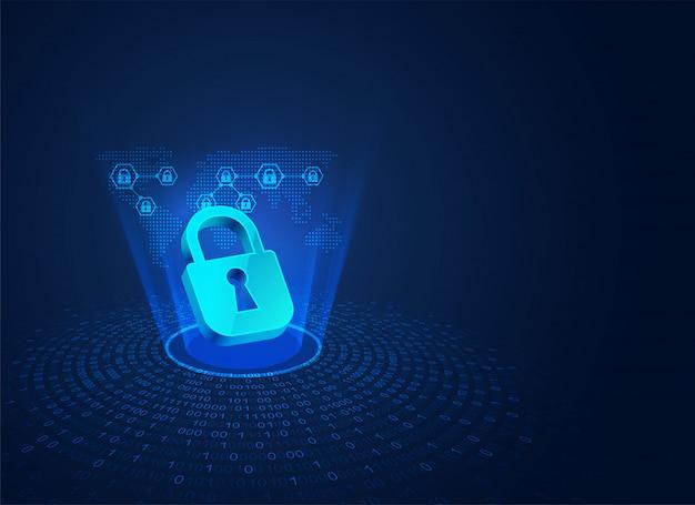 Digital padlock Premium Vector