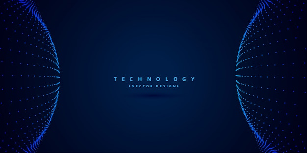 Digital science and technology style background Free Vector