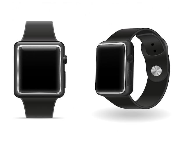 Digital smart watch with touchscreen stock vector illustration Premium Vector
