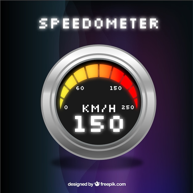 Digital speedometer Vector   Free Download