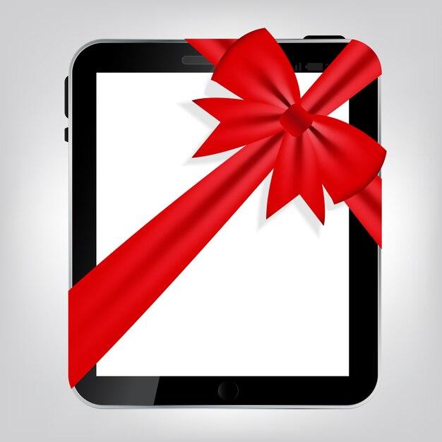 Digital tablet gift Premium Vector