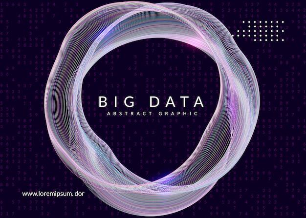 Цифровые технологии абстрактный фон. искусственный интеллект, глубокое обучение и концепция больших данных. Premium векторы
