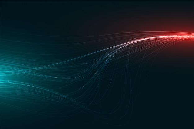 Progettazione di striature chiare astratte di tecnologia digitale Vettore gratuito