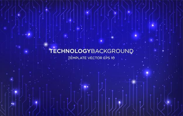 Фон для цифровых технологий фон фон Premium векторы