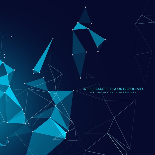 Digital technology background with floating triangles Free Vector