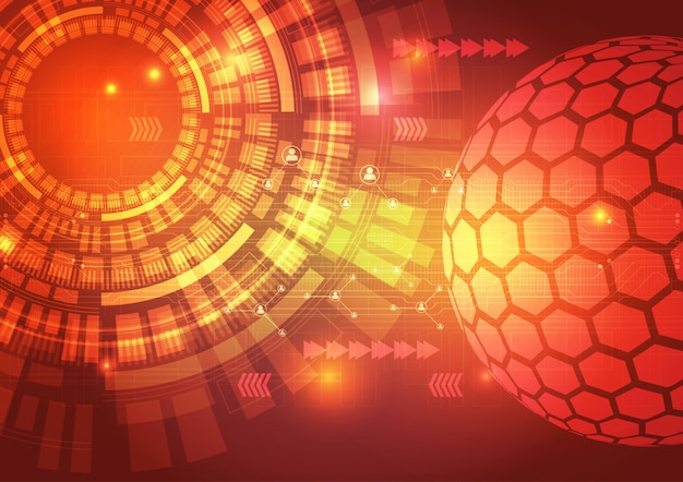 Digital technology circuit abstract background illustration Premium Vector