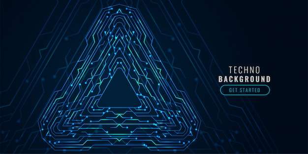 Digital technology circuit diagram futuristic banner Free Vector