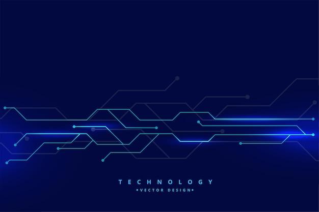 デジタル技術回路線図 無料ベクター