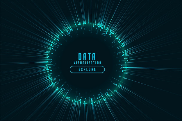 Digital technology glowing rays frame design Free Vector