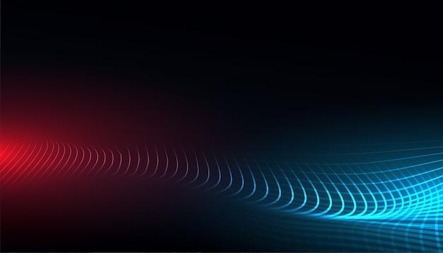 Fondo di concetto dell'onda della maglia di tecnologia digitale Vettore gratuito