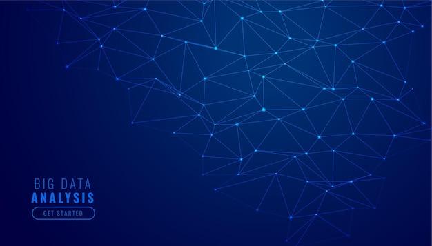 デジタル技術ネットワークメッシュ図の背景 無料ベクター