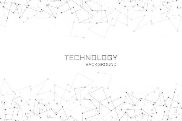 Цифровая технология многоугольной связи фон Бесплатные векторы