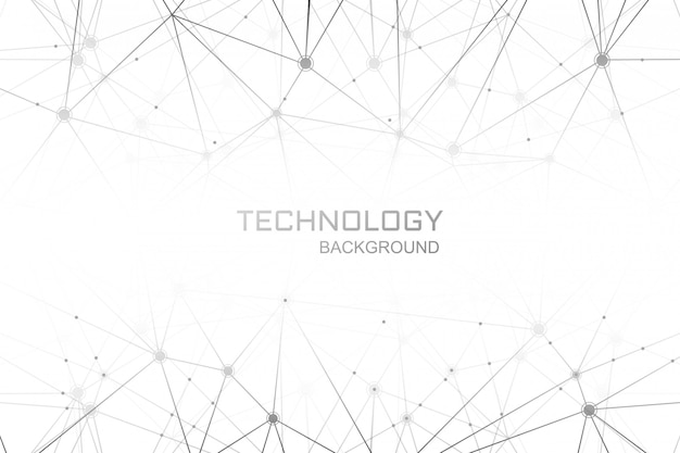 Digital technology polygon connection background Free Vector