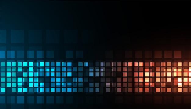 Tecnologia digitale brillante blu e arancione sfondo scuro design Vettore gratuito