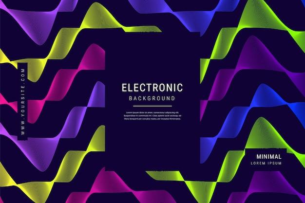 Digital Technology Wave Lines Mesh Geometric Background