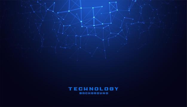 低ポリメッシュ図を使用したデジタルテクノロジー 無料ベクター