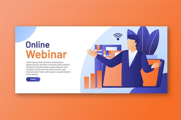 Modello di banner webinar digitale Vettore gratuito