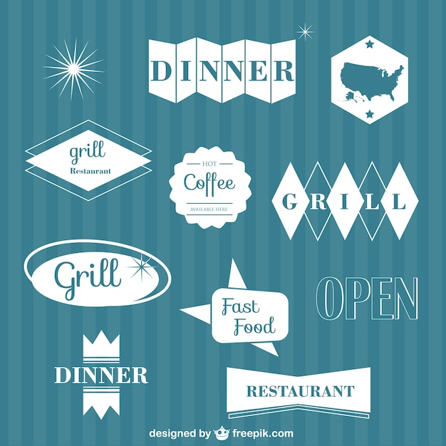 Dinner logos collection