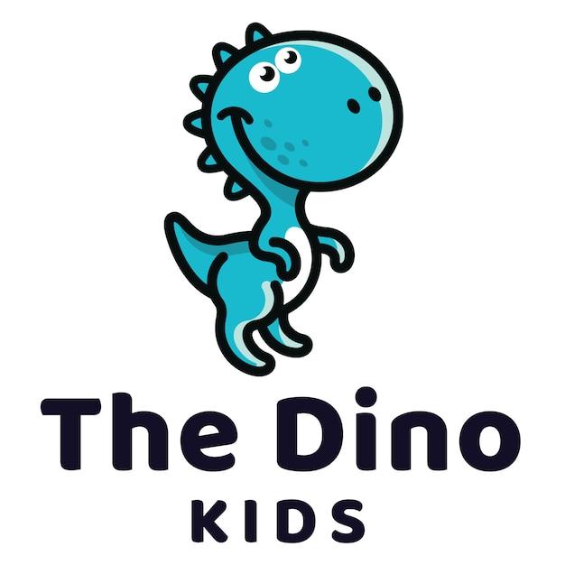 Dino kidsのロゴテンプレート Premiumベクター