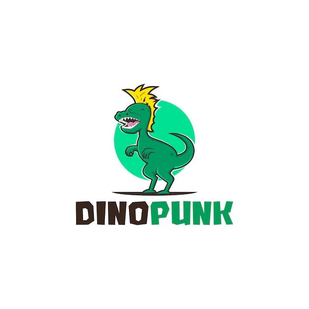 Dinopunk logo Premium Vector