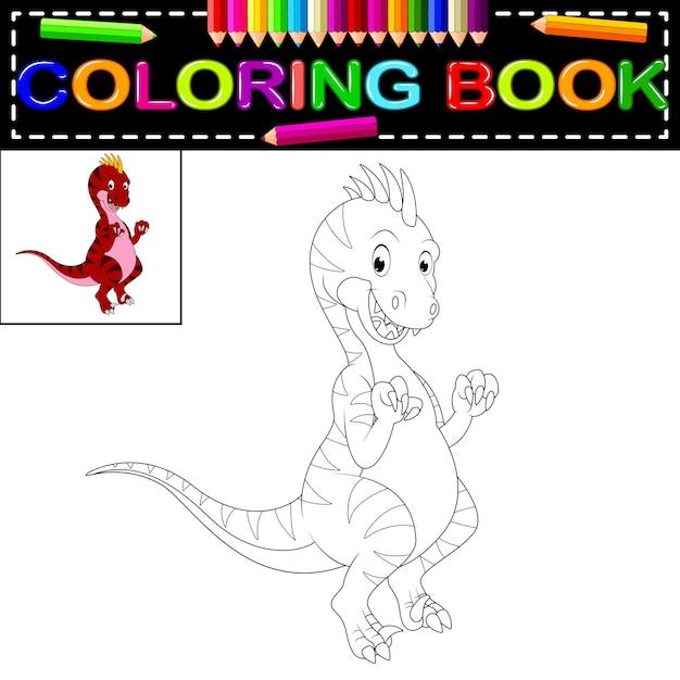 Dinosaur Coloring Book Premium Vector