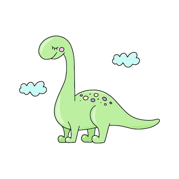 Динозавр нарисованная картинка