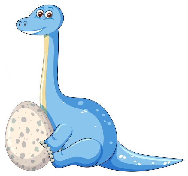 A dinosaur and egg Free Vector