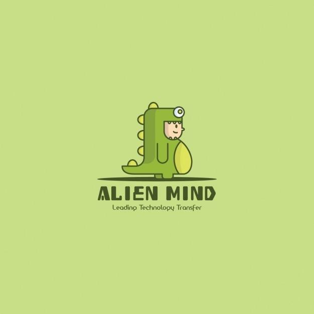 dinosaur logo green background vector free download