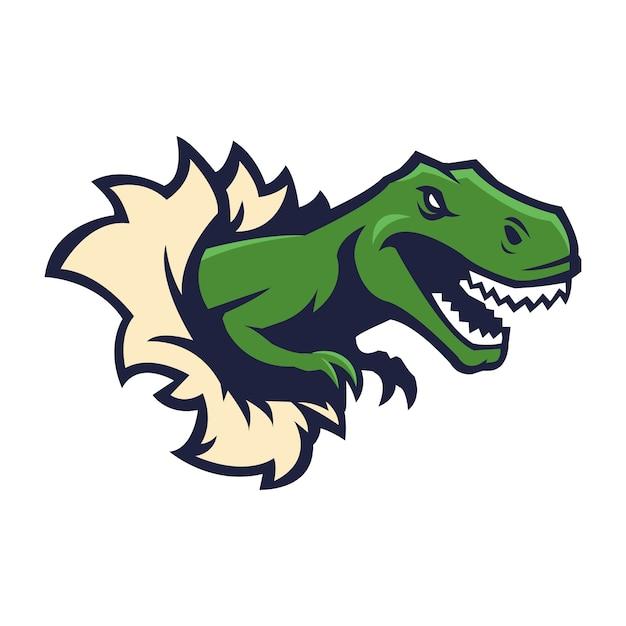 dinosaur mascot logo vector premium download