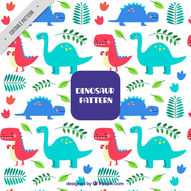 Dinosaur pattern Vector | Free Download