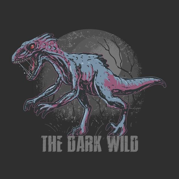 Dinosaur trex raptorアートワーク Premiumベクター