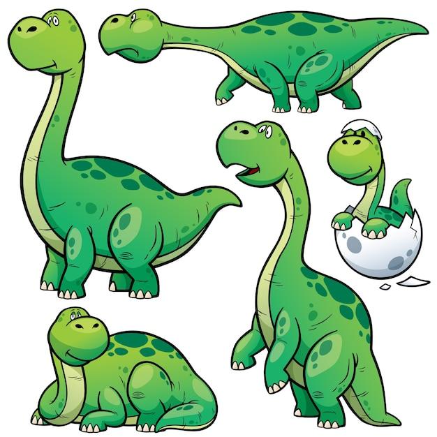 Dinosaurs cartoon character Premium Vector