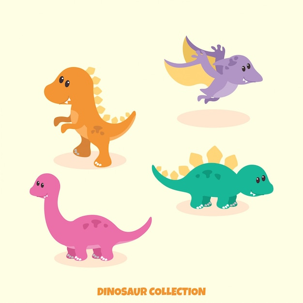 Dinosaurus collection Premium Vector