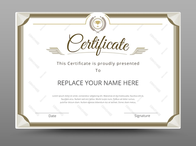 Diploma certificate template vector premium download diploma certificate template premium vector yelopaper Image collections