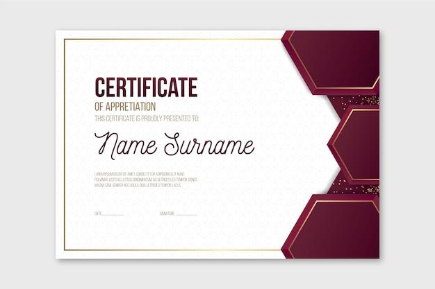 Diploma template concept Free Vector