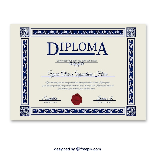 Diploma template vector free download diploma template free vector yelopaper