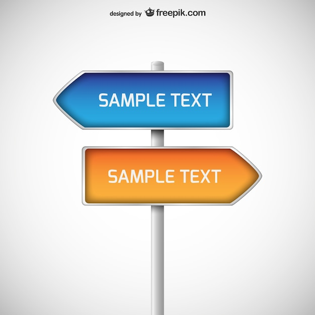 direction signposts vector free download. Black Bedroom Furniture Sets. Home Design Ideas
