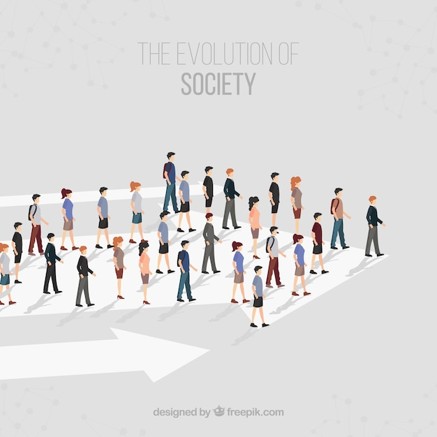 The direction of the society Free Vector