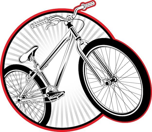 Dirt bike patch Premium Vector
