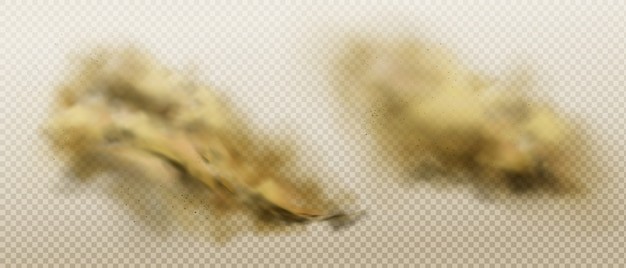 飛ぶ砂と土の汚れた塵雲 無料ベクター