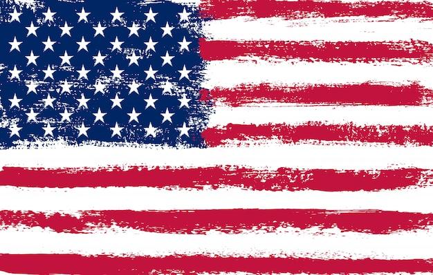 Dirty grunge american flag Premium Vector
