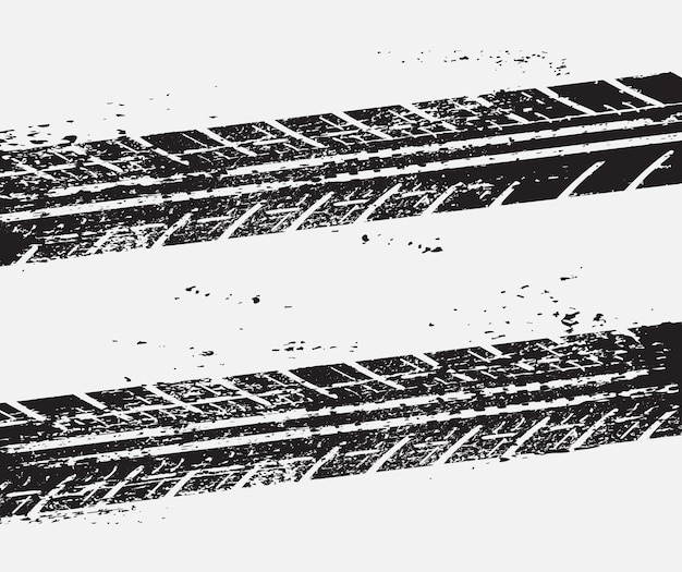 Dirty tire tracks background Premium Vector